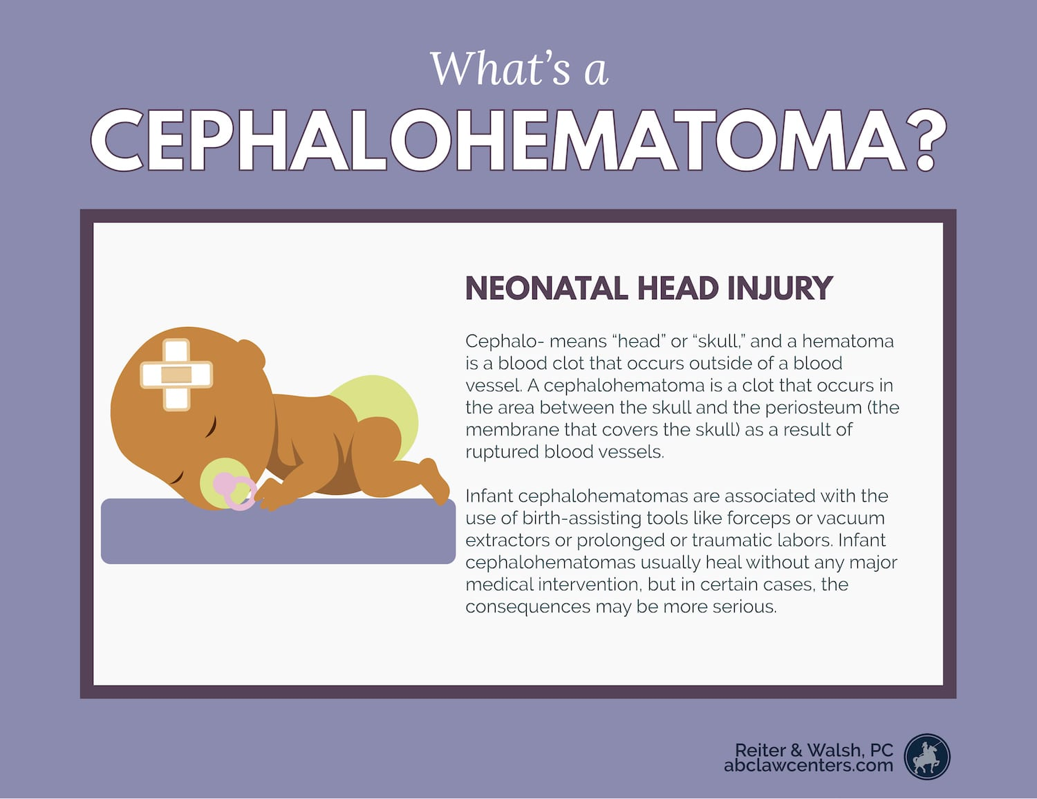 What is a cephalohematoma, and is it dangerous for my baby?